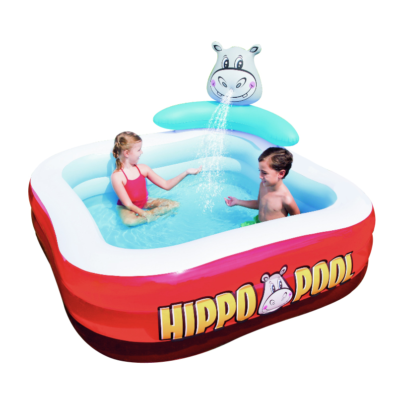 201*201*91cm Cute Baby  Inflatable Swimming Water Marine Pool Baby Hippo Playground Pool piscina bebe zwembad multi function large size outdoor inflatable swimming water pool with slide home use playground piscina bebe zwembad