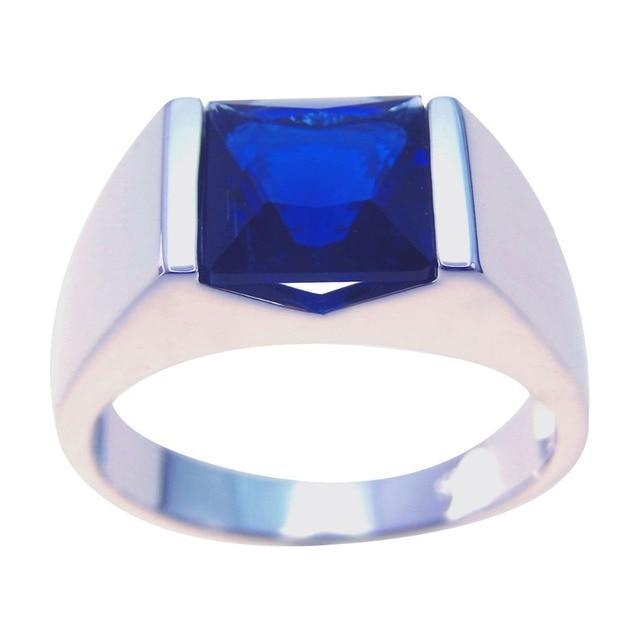 Новый Стиль Изысканные Ювелирные Изделия Сапфир 100% Стерлингового Серебра 925 Обручальные Кольца Для Женщин/Мужчин Размер 5-11