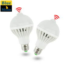 PIR Motion Sensor Light E27 220V LED Lamp 5W 7W 9W Bulb Auto Smart PIR Infrared Body Lamp With The Motion Sensor Lights