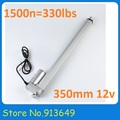 350mm stroke 12V DC electric linear actuator,solar tracker,1500N=150KG load 4mm/sec , for electric sofa, bed, window others