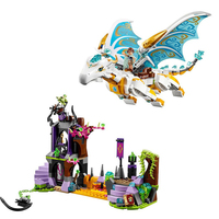 New Blocks BelaLELEpin Elves 10550 White Dragon The Elf Series Of Long After The Rescue Cction Blocks With 41179 Girls Block Toy