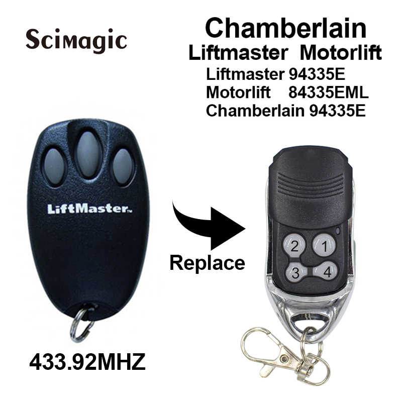 Chamberlain Liftmaster Motorlift 94335E Replacement Remote Control 1A5639-7 Garage door remote control 433.92mhz transmitter