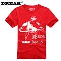 2016 verano nueva Cavalier LeBron James hombres bodybuilding culturismo camiseta personalizada Camiseta de algodón niño jersey jersey de la universidad