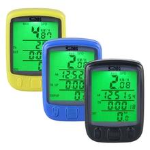 HOT SALE 563B Waterproof LCD Display Cycling Bike Bicycle Computer Odometer Speedometer Green Backlight