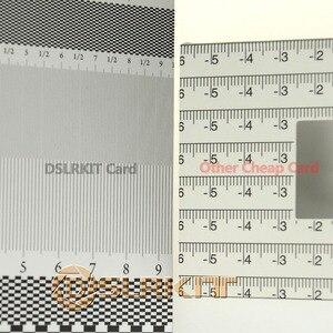 Image 5 - 6 sztuk/partia składane karty obiektywu ostrości narzędzie kalibracji wyrównanie AF mikro regulacji linijki wykresu