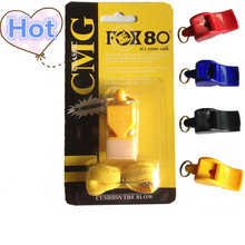 FOX80 whistle seedless plastic whistle FOX40 professional font b soccer b font referee whistle basketball referee