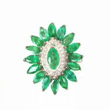 925 sterling silver Emerald Rings gift for women jewelry emerald Wedding ring Fine Jewelry  j2.50501agml chic rhinestone faux emerald round ring for women