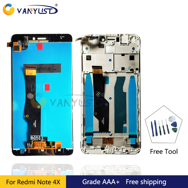 Grade AAA LCD Display Touch Screen Digitizer Assembly for Xiaomi Redmi Note 4X Global Version Snapdragon 625 lcd Replacement