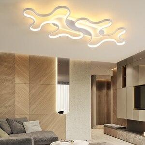 Image 2 - LICAN DIY Moderne LED Plafond Verlichting forLiving kamer Slaapkamer lustre de plafond moderne armatuur plafonnier Zwart LED Plafond Lamp