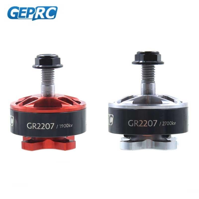 GEPRC GEP-GR2207 2207 1900KV 2400KV 2700KV Brushless Motor For RC Models Quadcopter FPV Racing Multicopter Props Silver Red dys mr2205 2700kv brushless motor for multicopter fpv racer quadcopter