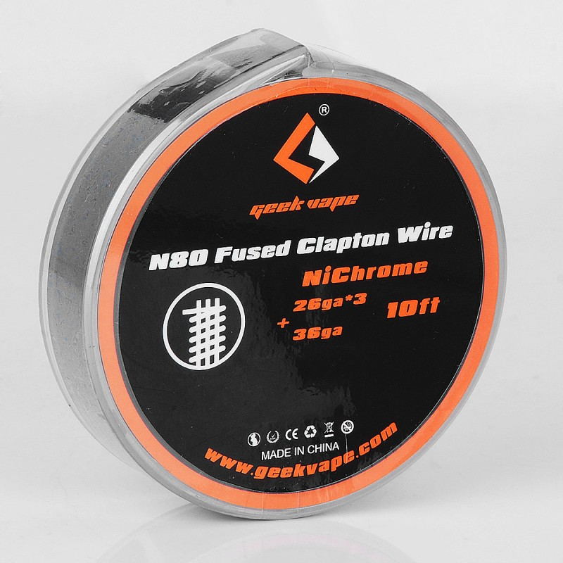 Original Geekvape N80 30GA x 3 + 38GA/28GA x 3 + 36GA/26GA x 3 + 36GA 3m Fused Clapton Wire Heating Wire Coil for Vape RDA / RTA цена