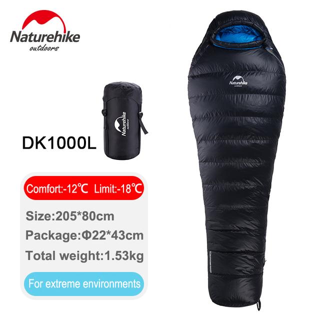 Ultralight Duck Down Sleeping Bag Mummy Adult Camping Hiking Climbing Warm Sleeping Bag-12 C / 10.4 F