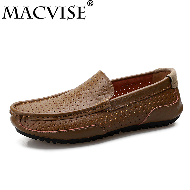 2018 New Men Casual Shoes Driving Business Slip-on Loafers Spring Summer Outdoor Flat Dress Shoes Big Size39-45
