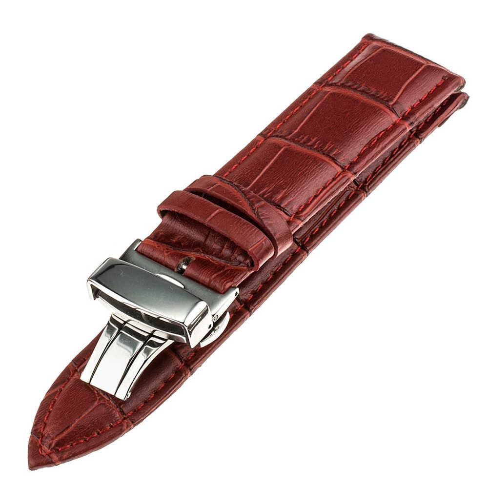 أعلى طبقة جلد البقر الحقيقي مربط الساعة ل تيسو الرجال النساء حزام (استيك) ساعة كروكو حزام أسورة يد 14 ملليمتر 16 ملليمتر 18 ملليمتر 20 ملليمتر 22 ملليمتر 24 ملليمتر