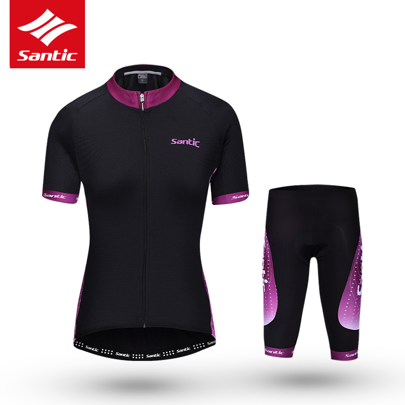 Santic Women Cycling Set 2017 Pro Racing Team MTB Bike Jersey 4D Padded Mountain Road Bicycle Jersey Set Cycling Clothing S-XXL west biking bike chain wheel 39 53t bicycle crank 170 175mm fit speed 9 mtb road bike cycling bicycle crank
