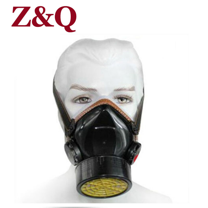 Z&Q Single Tank Gas Masks Protective Mask Respirator Against Painting Dust/Formaldehyde Pesticides Spraying Mask  free R5539-2 купить