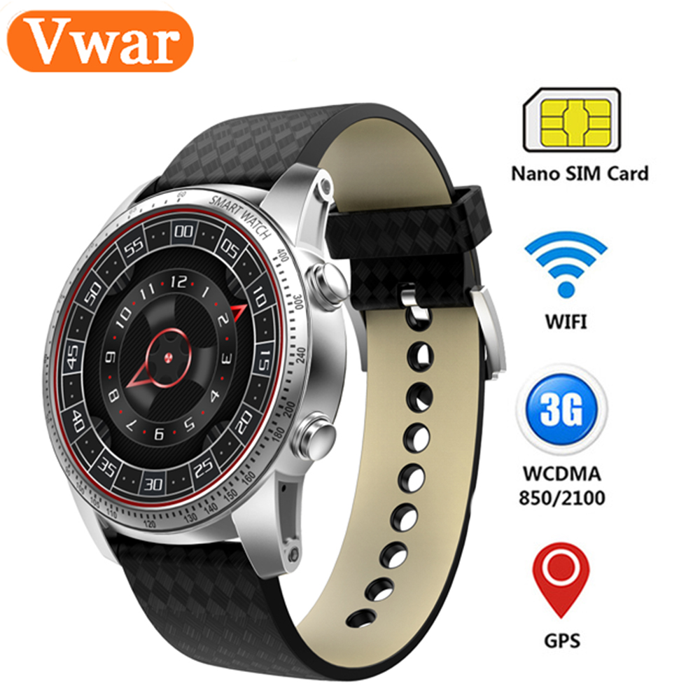 Vwar KW99 Smart Watch Android 5.1 MTK6580 RAM ROM 512MB 8GB Support GPS WiFi 3G SIM Card Heart rate Smartwatch PK KW88 KW98 vaglory q1 wifi gps 3g smart watch 512mb 4gb android 5 1 os mtk6580 bluetooth smartwatch support nano sim card app download