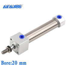 Mini Cylinder bore20mm  stroke 20 25 50 100 150 200 mm Double acting with cushion airtac size MARF MARU MAR