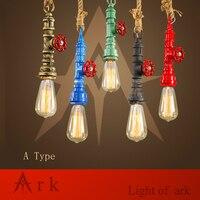 HÒM ÁNH SÁNG Loft Cổ Điển đầy màu sắc Cá Nhân Bar Chiếu Sáng Công Nghiệp Ống Nước Cổ Điển Pendant Lamp E27 Edison đèn