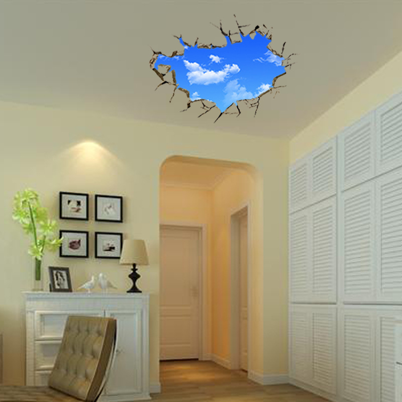 2 Sizes Blue Sky Cloud 3d Wall Stickers Bedroom Removable Wall Decals Sofa  Home Decor Art Poster 70*90cm 50*70cm In Wall Stickers From Home U0026 Garden  On ...