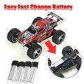 Fácil e Rápida Mudança Da Bateria WLtoys WL 2019 WL2019 5 Marchas de Velocidade Brinquedo de Controle remoto Monster Truck Carro RC Motor Do Carro Elétrico Kart