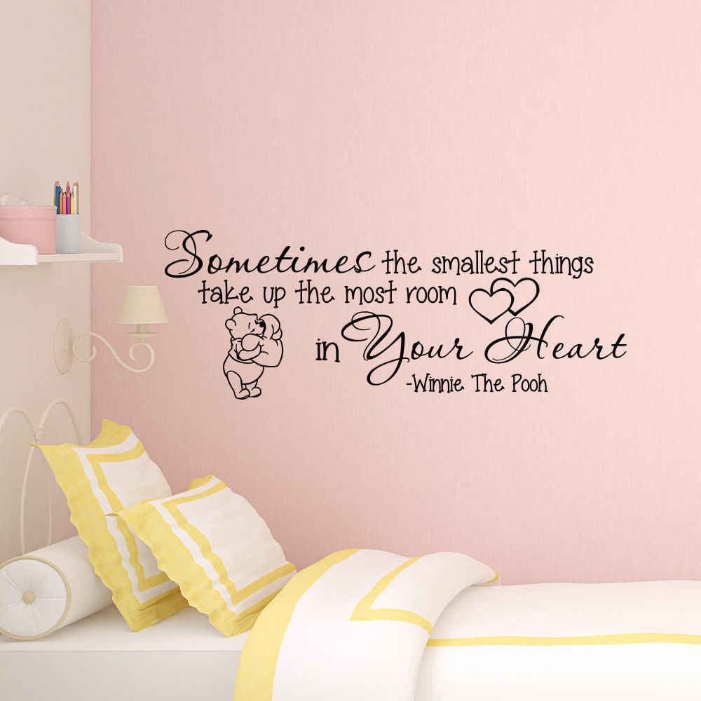 Winnie The Pooh Quote Wall Sticker Nursery Decor Cute