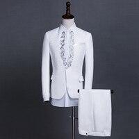 Новые модные брендовые мужские костюмы черные белые блестки Свадебные обтягивающие блейзеры мужской смокинг костюм жениха мужской Выпуск