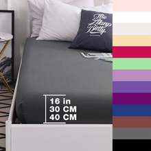 Custom 600TC Pure Cotton Luxury Solid  Fitted Sheet Mattress Cover Bed Sheets With Elastic Band Bedsheet Bedding Gray 160×200