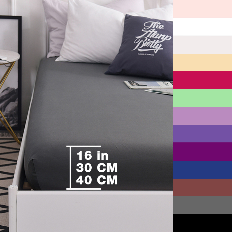 Custom 600TC Pure Cotton Luxury Solid Fitted Sheet Mattress Cover Bed Sheets With Elastic Band Bedsheet Bedding Gray 160x200