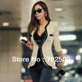 2017 women's new spring style fashion high quality casual blazers slim lady's suits jackets(one covered botton) size XS-XL