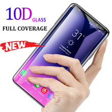 10D Full Curved Tempered Glass For Samsung Galaxy S8 S9 Plus Note 9 8 Screen Protector For Samsung A8 A6 S7 Edge Protection Film(China)