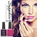 1 Unids Zafiro Esmalte de Uñas de Gel Polaco ULTRAVIOLETA Del Gel Más Nuevo 80 de La Moda barniz 7.3 ML Empapa de Larga Duración del Clavo Del Gel para Uñas de Arte maquillaje