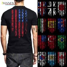 купить Flag (Any Country) Print Men Tshirt Argentina Korea Canada Brazil Turkey Usa Australia Spain Italy Japan Uk Cotton O Neck Shirts по цене 989.97 рублей