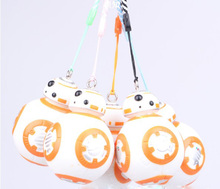 1 pc 7cm New Star Wars The Force Awakens Dirty-Style BB8 BB-8 Droid Robot Keychain Action Figure Stormtrooper Toys KBB8B