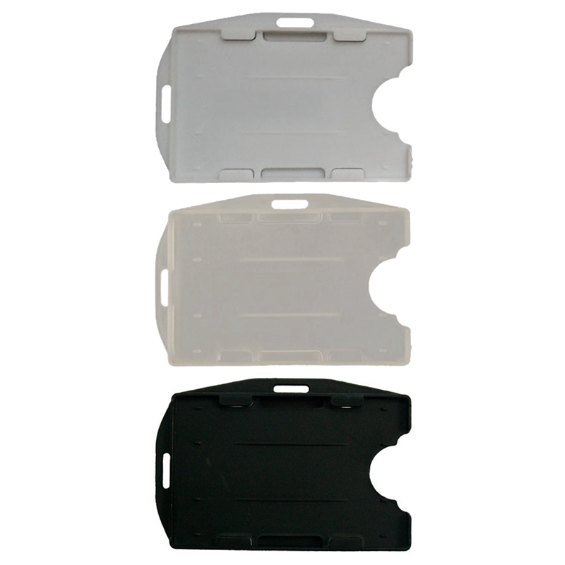 5Pcs/set  Hot Sale Plastic ID Access Card Cover Credit Card Case Badge Card Holder 3 Color  School Office Supply