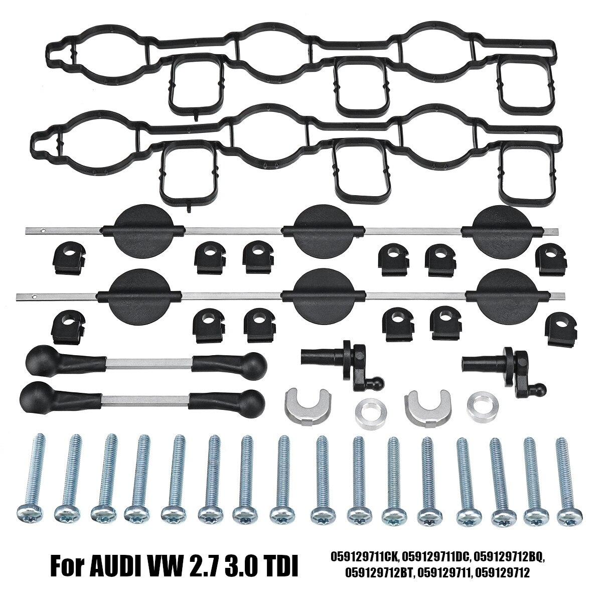 Ensemble de rabats de tourbillon de collecteur d'admission pour AUDI pour VW 2.7 TDI A4 A5 A6 A8 Touareg 059129711CK 059129711DC 059129712BQ 059129712B