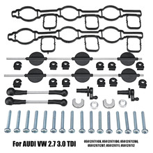На входе впускной коллектор Swirl клапанами Набор для AUDI для VW 2,7 TDI A4 A5 A6 A8 Touareg 059129711CK 059129711DC 059129712BQ 059129712B