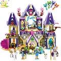 817pcs Girls Sky Castle Dragon Elves Figures Building Blocks Compatible With Legoed Friends House Educational Toys for Children