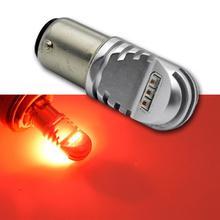 1 шт. 30 Вт 1156 BA15S P21W светодиодный BAU15S PY21W BAY15D светодиодный лампы 1157 P21/5 Вт R5W авто лампы накаливания автомобиля светодиодный свет 12 В-24 В красный, белый Amber
