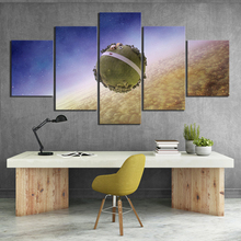 5 Piece HD Picture Dragon Ball Z King Kais Planet Fantasy Art Cartoon Wall Paintings Canvas for Home Decor