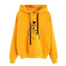 Свитшоты с принтом женская с длинным рукавом Перемычка Hoody пуловер Топ Блузка Женская толстовка Poleron Sudadera Con Capucha L711