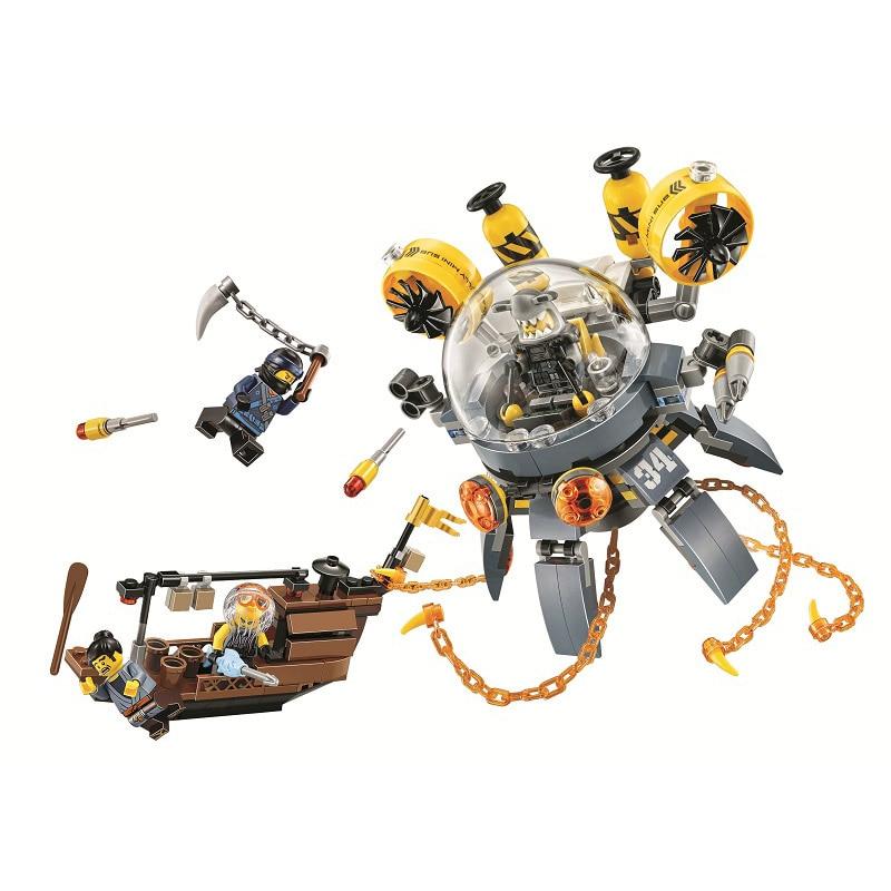 Lepin Pogo Bela 10725 368PCS+ Ninjagoe Flying Jelly Sub Machine Battle Robots Building Blocks Bricks Compatible with Legoe Toys bering 10725 766