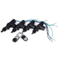 360 Degree Rotation Car Auto Remote Central Lock Alarm Security Kit 4 Door Bracket Locking Power Keyless Entry System