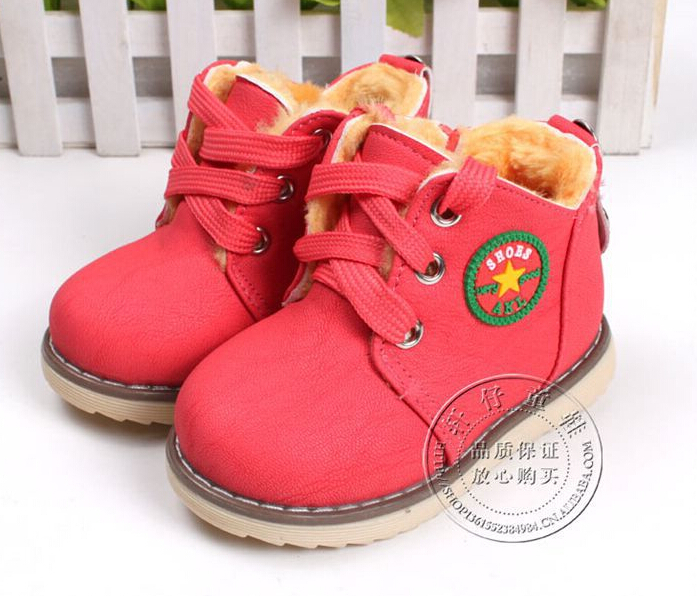 2017-new-childrens-snow-boots-warm-shoes-for-boys-and-girls-thick-cotton-padded-ace-up-boots-comfort-baby-shoes-Size-21-30-1
