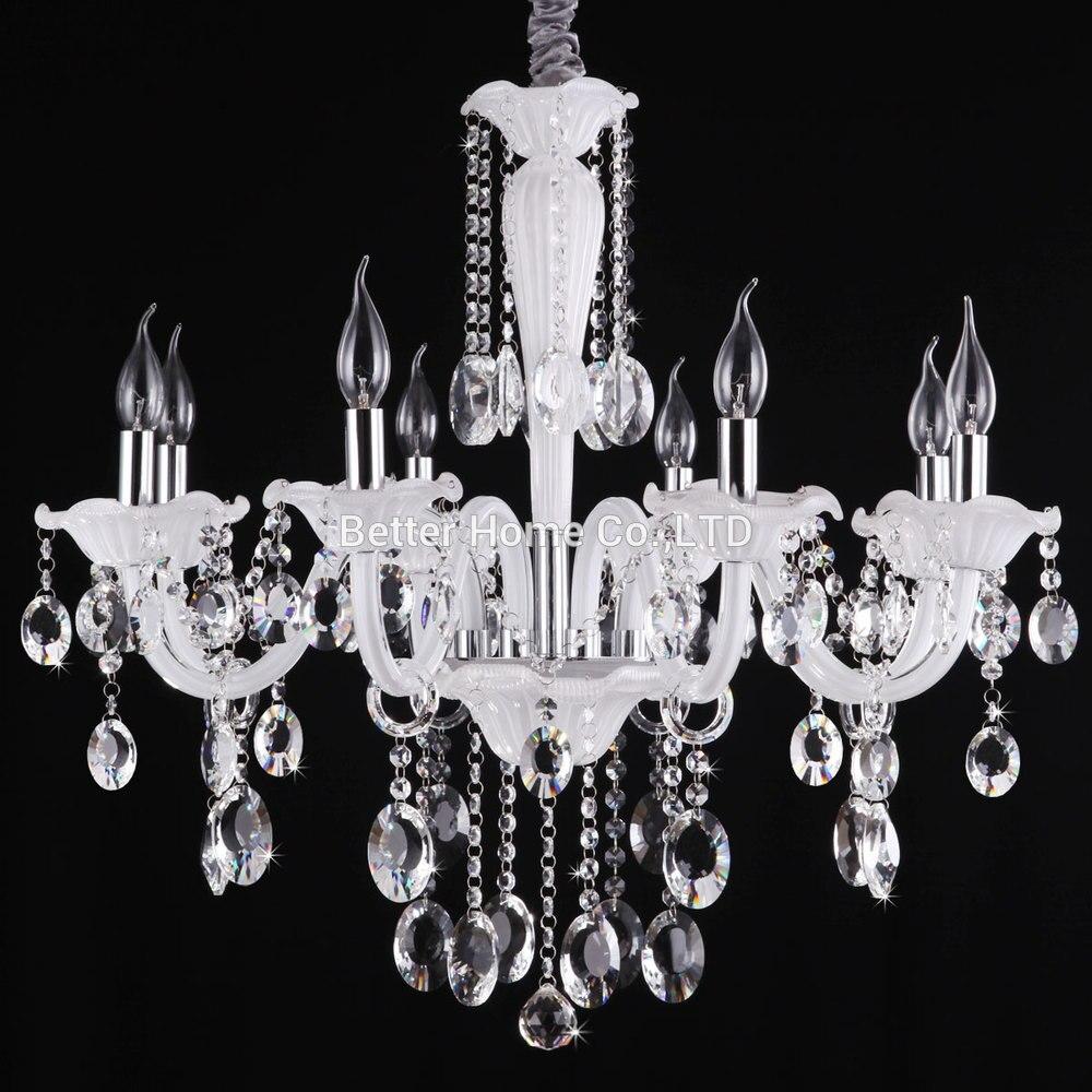 Moderno Cristallo Braccia 6 8 Bianco Di Lampadari Illuminazione WH9E2ID