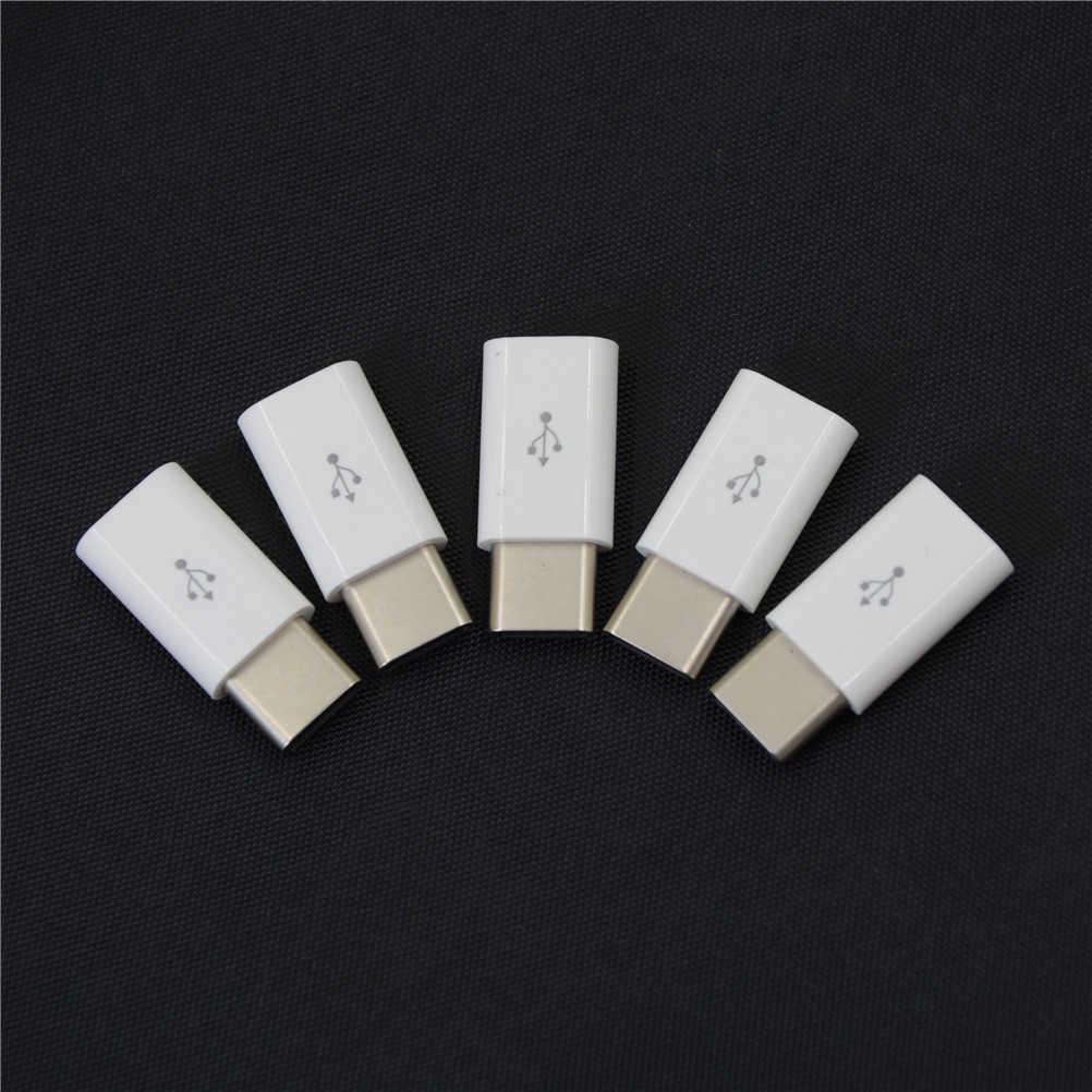 5 قطعة/الوحدة USB كابل USB-C 3.1 نوع C ذكر إلى مايكرو USB أنثى محولات محول كابلات الهاتف المحمول ل ماك بوك نوكيا نيكزس