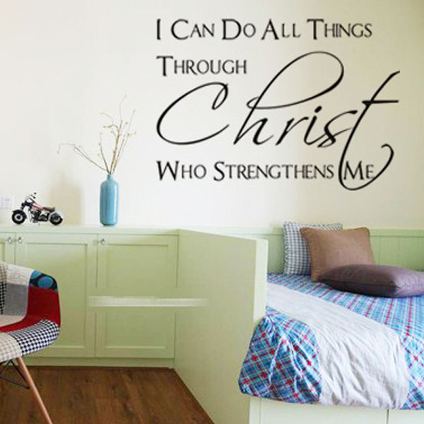 I Can Do All Things Through Christ Who Strengthens MeKids Bedroom Home