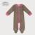 Elección de la madre 100% algodón Bebé 5 unids conjunto estampado de leopardo Bebé mamelucos set, babero, gorrita tejida, y Botines