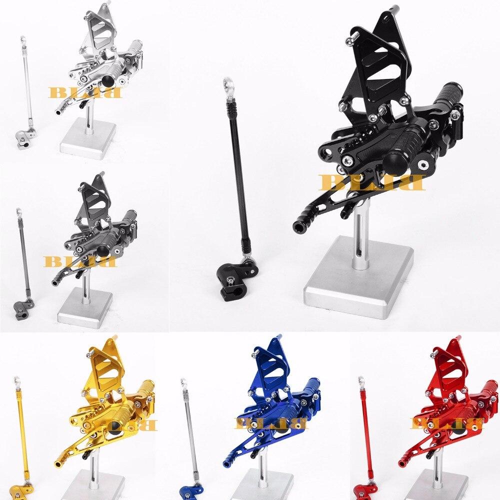 8 цветов ЧПУ Rearsets для Honda ЦБ РФ 954RR 900RR CBR900RR CBR954RR 2002 - 2003 задний комплект Регулируемая подножки мотоцикла педали