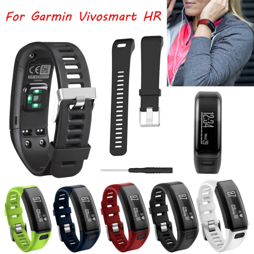 21MM Replacement Soft Silicone Bracelet Strap WristBand for Garmin Vivosmart HR
